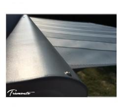 Markiza tarasowa ANTRACYT 500x300 Szare Pasy PREM