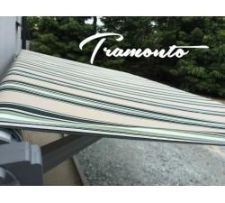 Markiza tarasowa ANTRACYT 500x300 Beż-Zielona STD