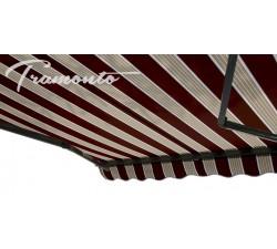 Markiza tarasowa ANTRACYT 300x250 Bordowo-Beżowa