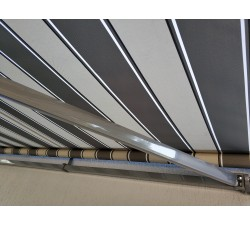 Markiza tarasowa ANTRACYT 160x120 Szaro-Szara PREM