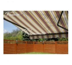 Markiza tarasowa ANTRACYT 200x150 Beż- Bordo PREM