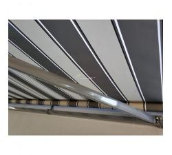 Markiza tarasowa ANTRACYT 250x200 Szaro-Szara PREM