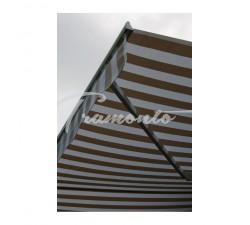 Markiza tarasowa ANTRACYT 400x300 Beż-Biała STD
