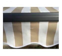Markiza tarasowa ANTRACYT 500x300 Beż-Biała STD
