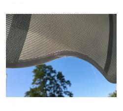 Markiza tarasowa ANTRACYT 500x300 Szare Pasy STD