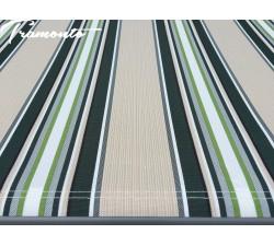 Markiza tarasowa ANTRACYT 500x300 Beż-Zielona PREM