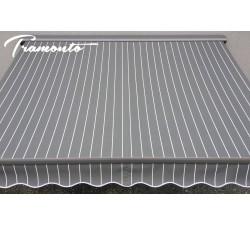 Markiza tarasowa ANTRACYT 500x300 Szare Paski PREM
